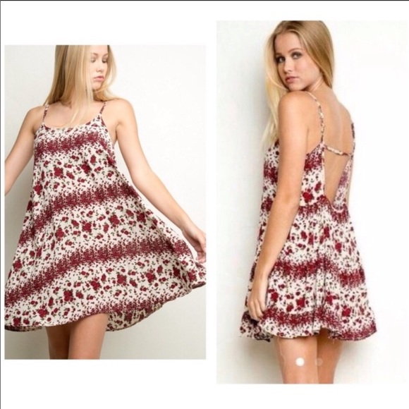 Brandy Melville Dresses & Skirts - Brandy Melville Rose Dress - Discontinued Style